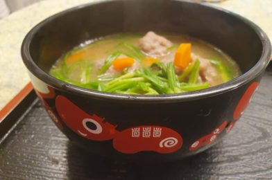 Carrot Pork Balls in Mizkan Tonkotsu Nabe Tsuyu
