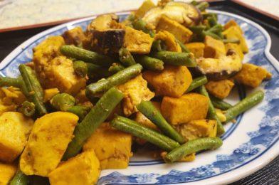 Tau Kwa Long Beans & Mushroom Stir Fry