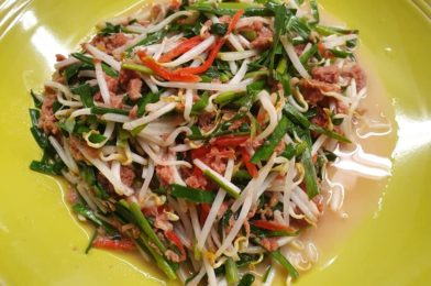 Corned Beef with Chives & Bean Sprouts