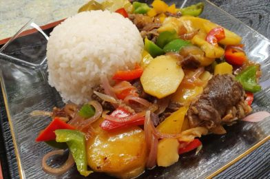 Wagyu Beef with Potatoes, Onions & Traffic Light Capsicums in Teriyaki flavour