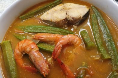 Assam Fish with Prawns and Okra
