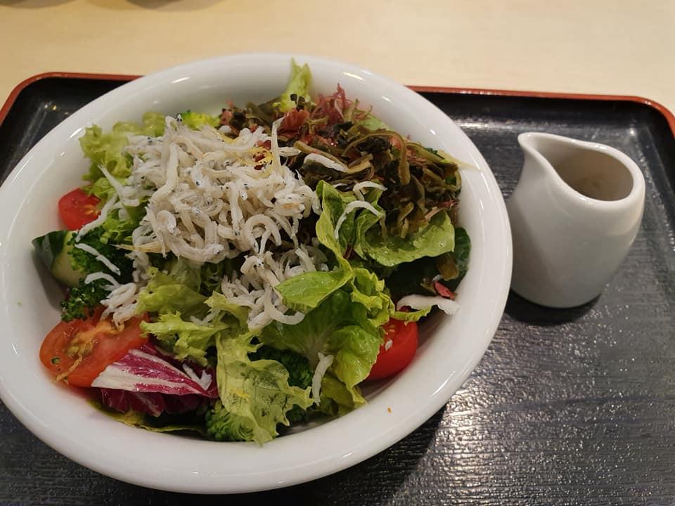 Kasen Salad with Shirasu @ Donguri Family Restaurant