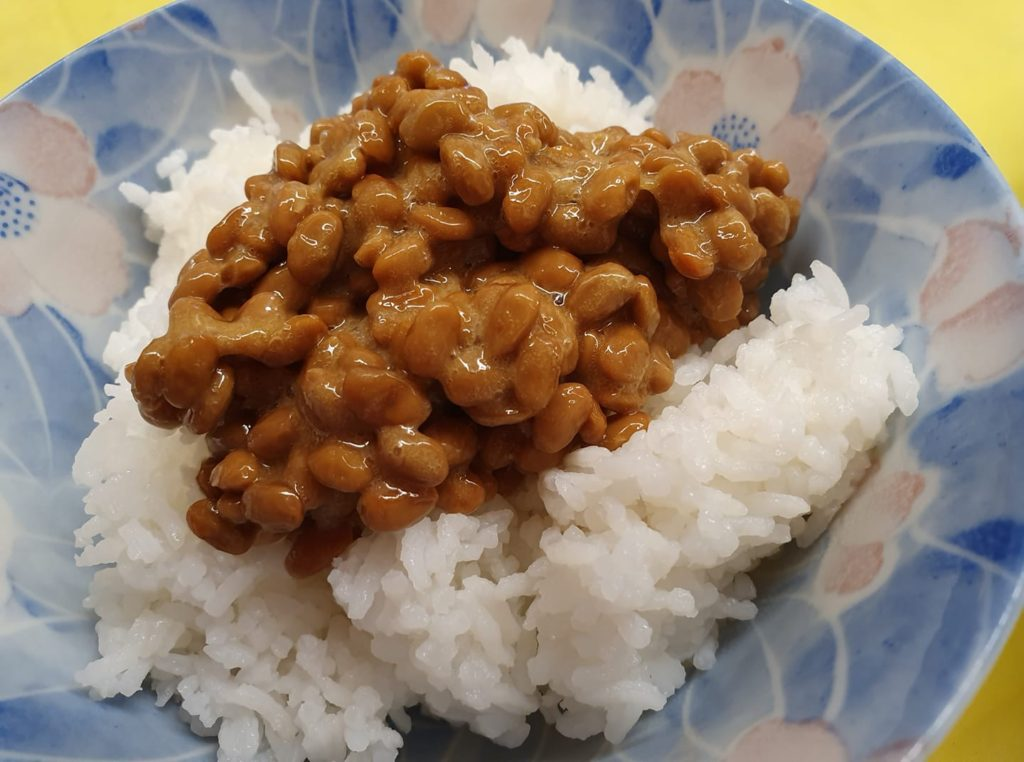 Natto on warm rice