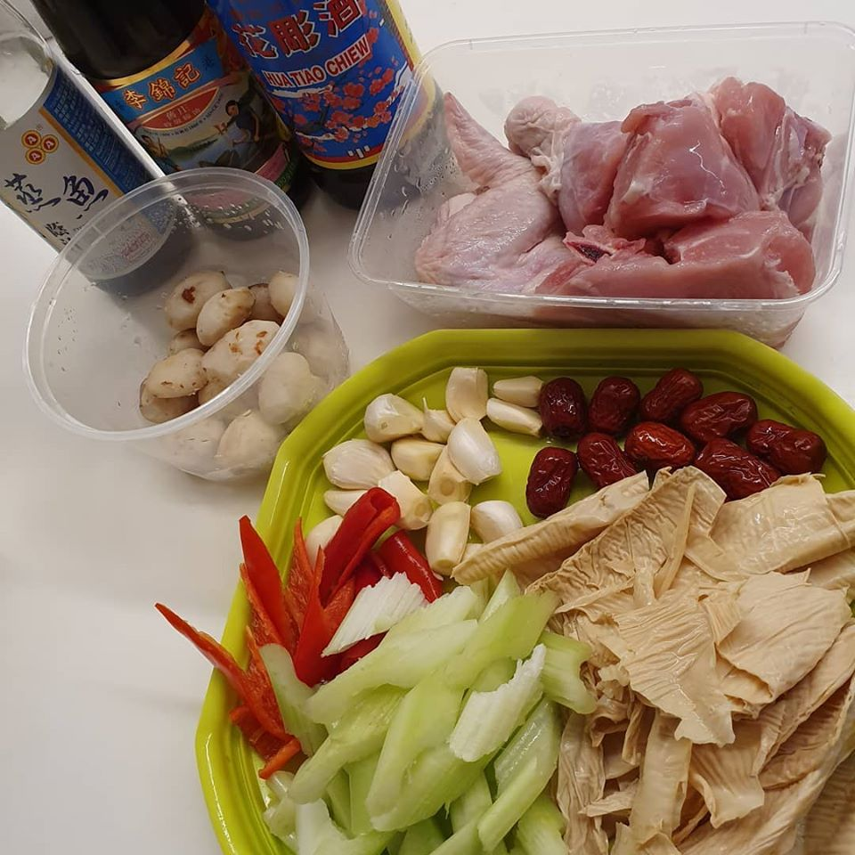 ingredients for Chicken with Chempedak Seed