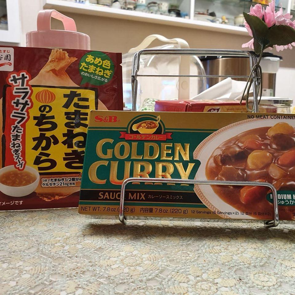 1 Sachet Tamanegi No Chikara and S&B brand Golden Curry sauce Mix