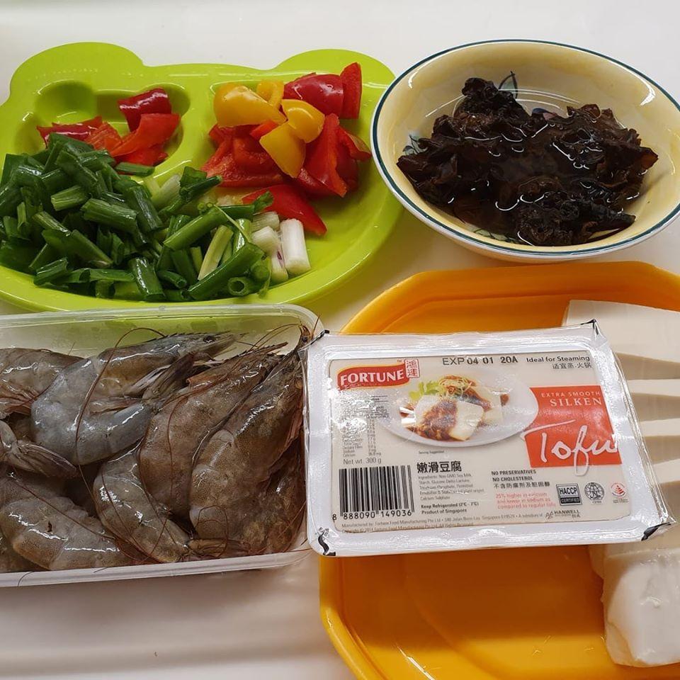 Ingredients for Guo Tie Tofu