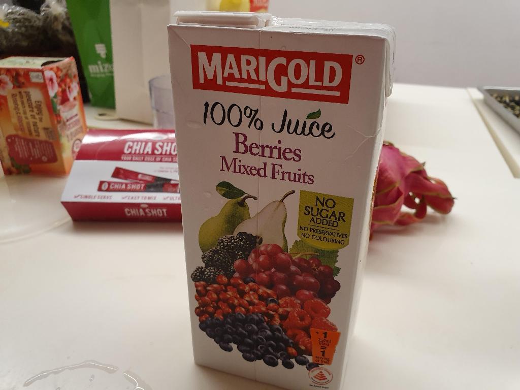 Marigold 100% Berries Mixed Fruits with no Sugar