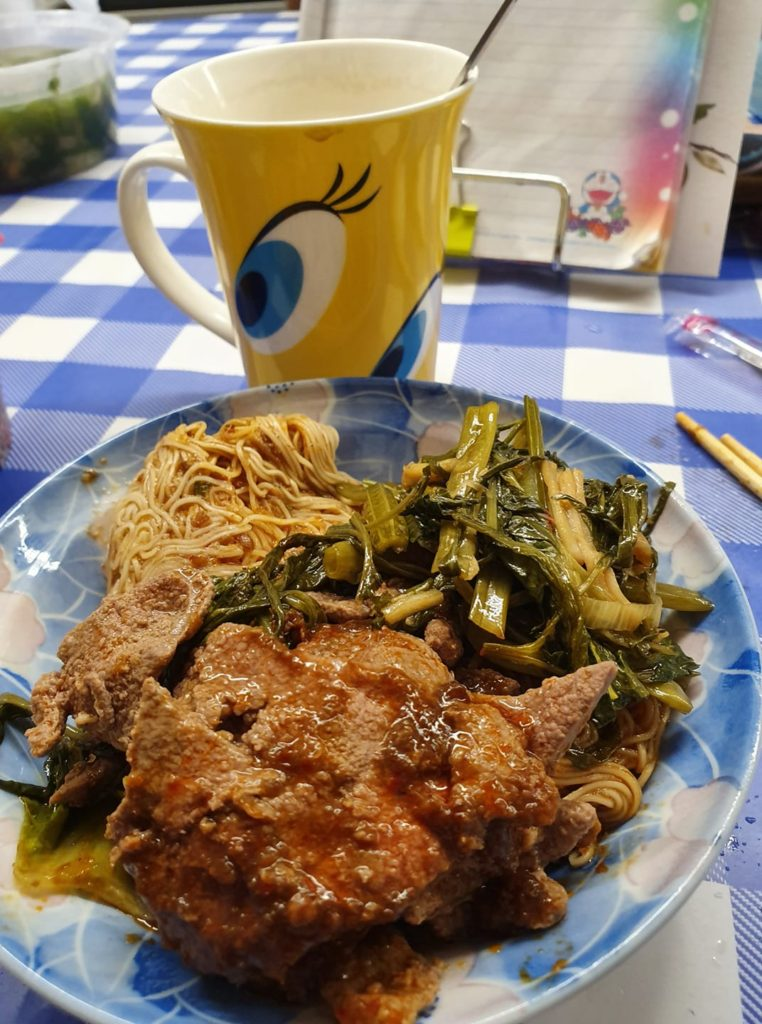 Pig Liver, veggies with dried Mee Suah