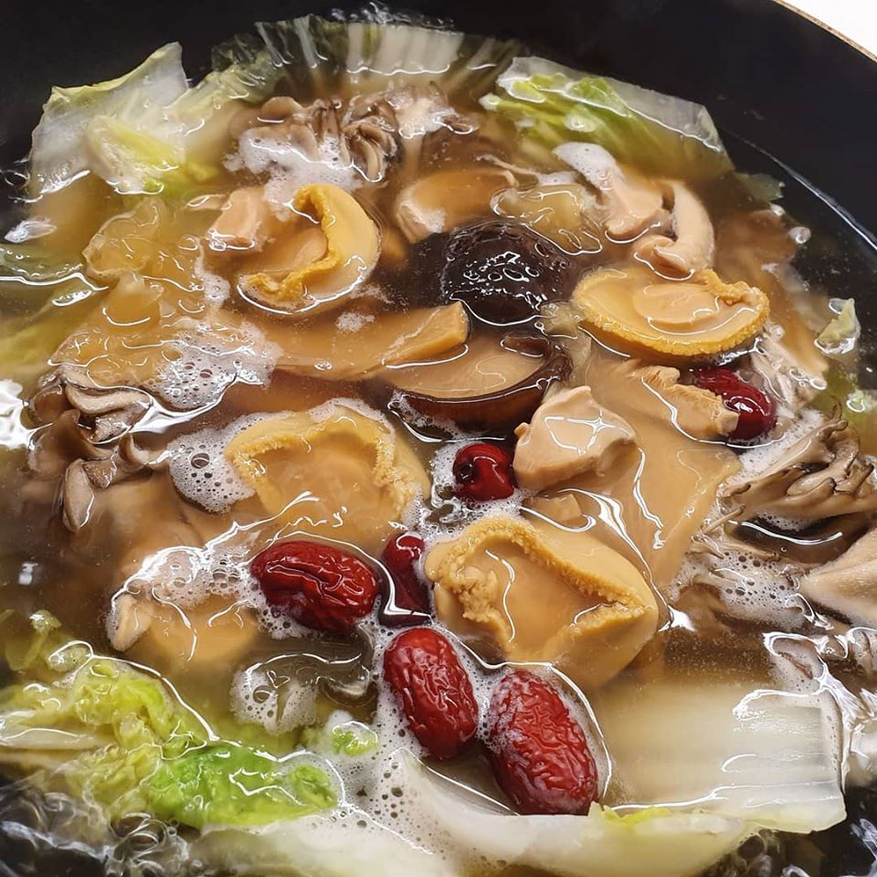 Add in canned Abalone with Braised Black Mushrooms.