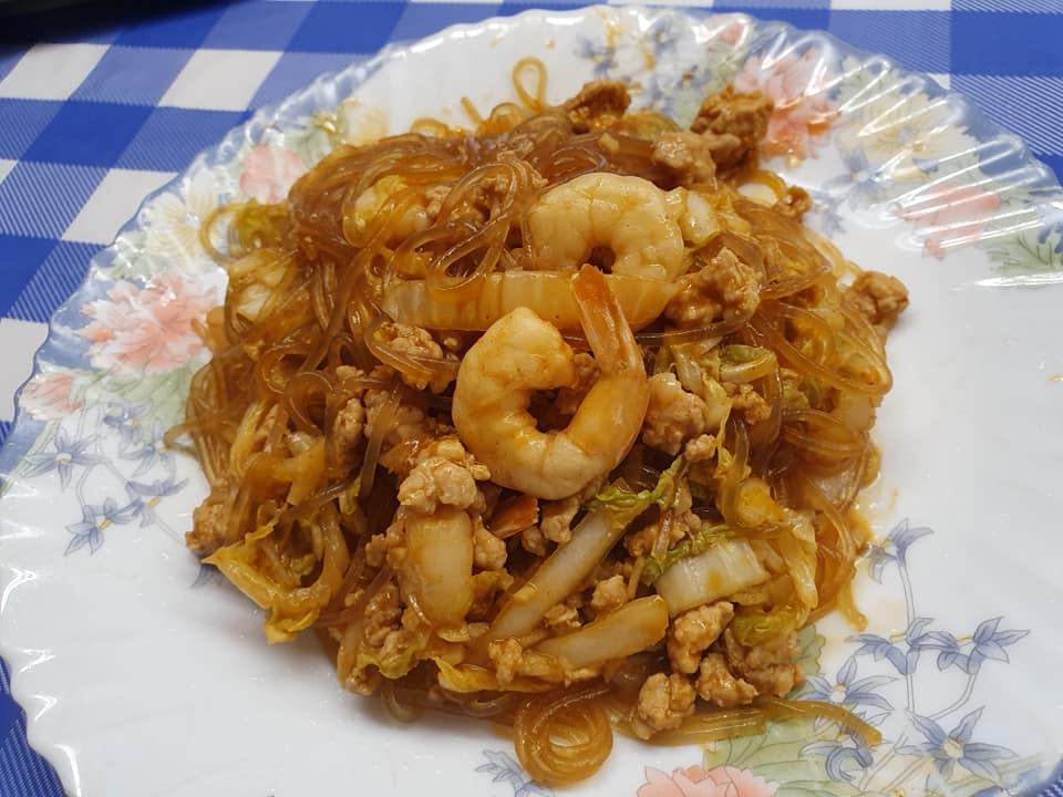 Gochujang flavoured Stir Fried Korean Sweet Potato Noodle