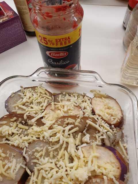 Top with Mozzarella Cheese on top