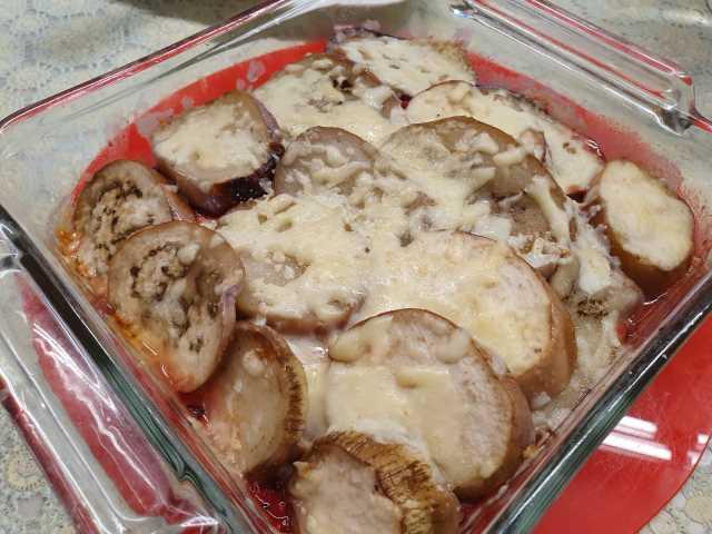 Potato Brinjal in Basilio Sauce