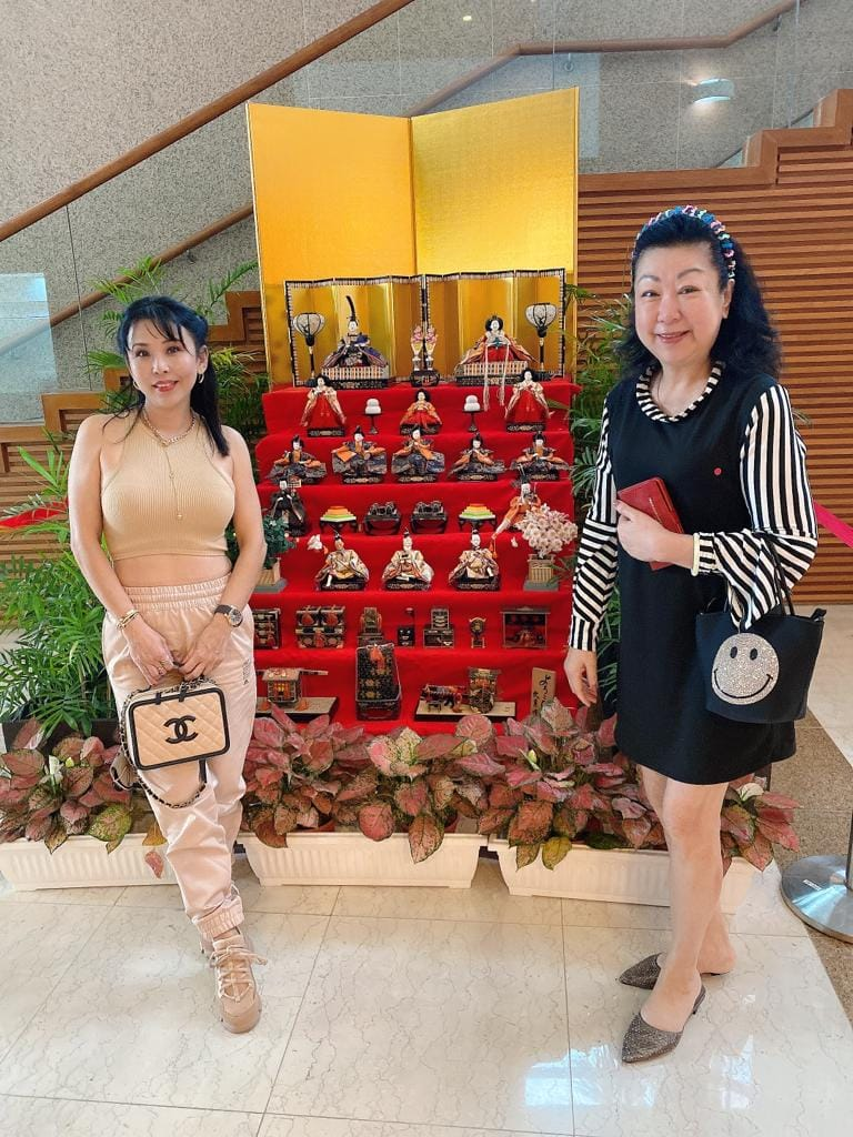 CATherina with friend at Japan Association Singapore