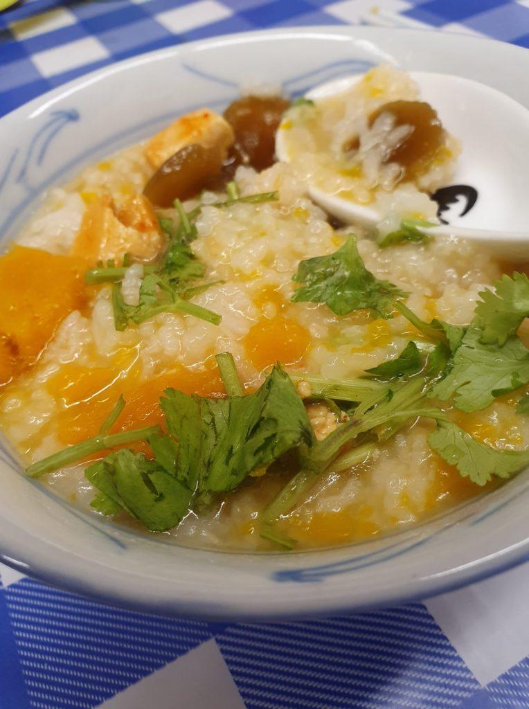 Pumpkin Dried Scallop Porridge