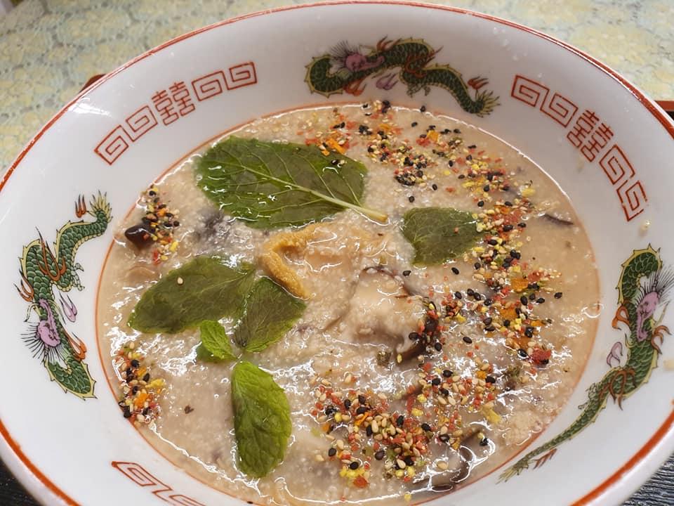 Savoury Oatmeal with Abalone and Shiitaki