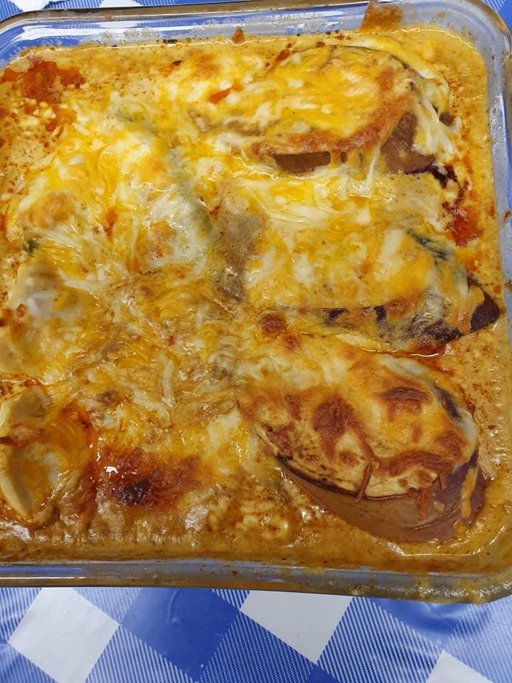 Curry flavoured Yong Taufu Au Gratin